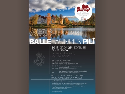 "Ticket sales began to Latvian castles and manor Association organised shares ""apceļosim Latvian castles and manors"" wrap party Chairman Palace November 25"